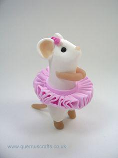 Ballerina Mouse by QuernusCrafts, via Flickr