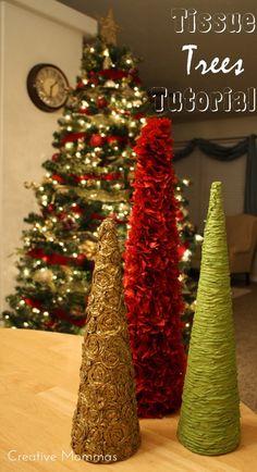 Creative Mommas: Tissue Christmas Trees