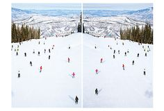 """Gray Malin archival inkjet print on ultra premium luster paperAvailable sizes:18""""H x 24""""W; 36""""H x 48""""WTop of Snowmass Vertical Diptych on OneKingsLane.com"""