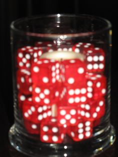 dice with battery votive