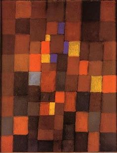 Paul Klee - Pictorial Architecture (red, Yellow, Blue) - 1923
