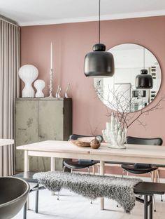 粉色- Interior Design Blogs, Colorful Interior Design, Cafe Interior, Colorful Interiors, Interior Decorating, White Interiors, Scandinavian Interiors, Scandinavian Design, Decorating Tips