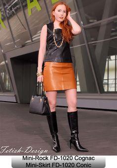 Leather Mini-Skirt 2nd Conic, Fetish-Design, FD-1020-C