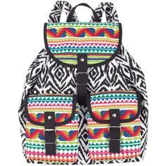 Canvas Backpack found on Polyvore