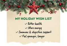 STAY ENERGIZED AND FEEL AMAZING THIS HOLIDAY SEASON.  With your hectic schedule, the never-ending shopping list, and all the family gatherings, you deserve to have more energy.