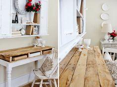Pallet top desk | Creative Ways to Repurpose Pallets