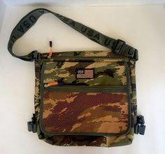 Pre-Owned Military Style Camo Shoulder Carry Bag/Bookbag | Clothing, Shoes & Accessories, Unisex Clothing, Shoes & Accs, Unisex Accessories | eBay!