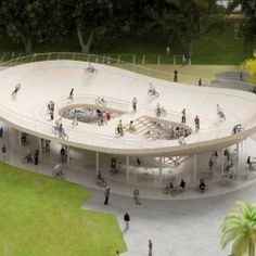 Cool Cycling Pavilion in Hainan, China: Bicycle Club by NL Architects. #dwellinggawker