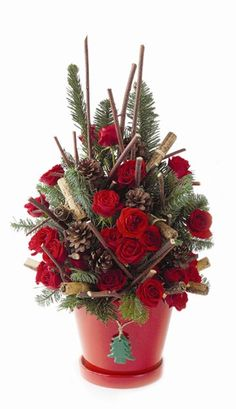 christmas greenery with candy cane centerpiece - Bing Images