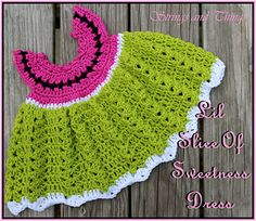 Lil Slice Of Sweetness Dress by Crochet Supernova free
