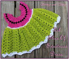 Lil Slice Of Sweetness Dress by Crochet Supernova free