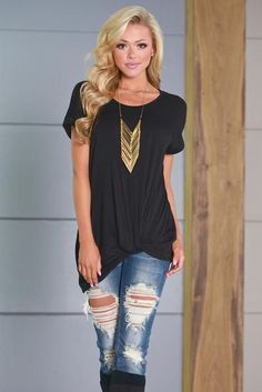 awesome 10% off & FREE shipping with code REPJENNIFER!  Knotty By Nature Top - Black... by http://www.redfashiontrends.us/teen-fashion/10-off-free-shipping-with-code-repjennifer-knotty-by-nature-top-black/