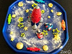 Space Mystery Sparkling Space Themed Tuff Tray for Toddlers-EYFS Children - Primary Treasure Chest provides of EYFS teaching resources for all areas of the curriculum. High quality early years resources / preschool printables for teachers.