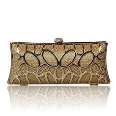 Ecosusi Noble Sequin Womens Evening shoulder bag Wedding Clutch Bag Gold ECOSUSI