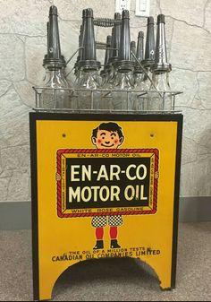 Rare Original Enarco Motor Oil Porcelain Display
