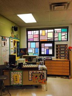 Love the windows in Crystal Jahnig's art room.
