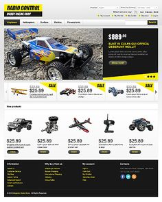 Radio Control Magento Themes by Hermes