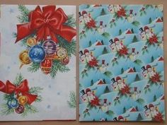 Vintage Christmas Gift Wrapping Paper In Box, Art Crest Gift Wrap (10/23/2013)