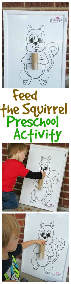 This feed the squirrel preschool activity is super fun for preschoolers who love acorns! Counting, recognition of numbers and sequence are just a few basic mathematical concepts kids learn in this simple activity! Free printable included! (Halloween Crafts For Preschoolers)