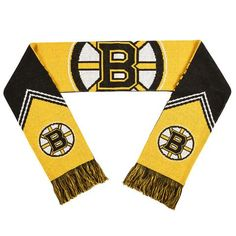 Boston Bruins Scarf - Reversible Stripe - 2016 #BostonBruins