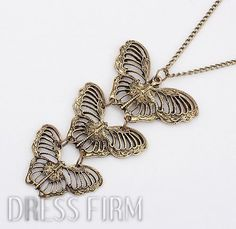 Exquisite Western Restores Hollow-out Butterly Alloy Long Necklace.