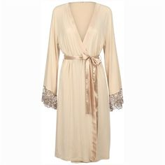 Cocosa - Long Sleeves Dressing Gown Cappuccino Luxury Nightwear, Dressing, Gowns, Long Sleeve, Sleeves, Beauty, Style, Fashion, Vestidos