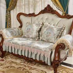 Classic Cushion Covers, Classic Cushions, Sofa Cushion Covers, Couch Covers, Cushions On Sofa, Pillows, Victorian Sofa, Victorian Decor, Victorian Cottage