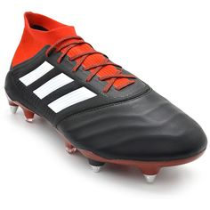 85c61d0b22 adidas Predator 18.1 Leather SG Soccer Cleat Black White Red-11.5 Adidas  Predator