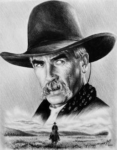 Sam Elliot Lone Rider by arfineart Cowboy Bebop, O Cowboy, Western Cowboy, Sam Elliott, Movies Wallpaper, Westerns, Katharine Ross, Celebrity Caricatures, Cowboys And Indians