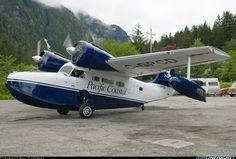 Pacific Coastal Airlines Grumman Goose (C-GPCD) at Ocean Falls - Water Aerodrome British Columbia Columbia Country, British Columbia, Great Pictures, Cool Photos, Grumman Aircraft, Lost Tv Show, Float Plane, Flying Boat, Salmon Fishing