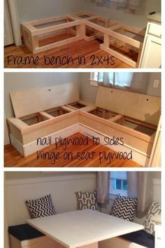 Diy Dining Bench With Storage Uzkino Info Bench Seat Dining Room Table Valbarnw. Dining Bench With Storage, Dining Room Bench Seating, Dining Room Table, Kitchen Storage, Table Bench, Kitchen Nook, Diy Home Decor For Apartments, Diy Home Decor On A Budget, Kitchen Furniture