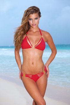 Sauvage Diva - Red Bikini Set from Bikini Luxe. Saved to Sauvage Swimwear. Red Bikini Set, Bikini Luxe, Push Up Bikini, Sexy Bikini, Bikini Girls, Women Bikini, Sauvage Swimwear, Bikini Swimwear, Beauty