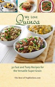 """""""We Love Quinoa"""" - pdf e-book (These recipes may contain oil, which can be omitted for a WFPB diet)"""