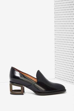 Jeffrey Campbell Serling Leather Loafers - Personal Styling - Vintage and Victorian for K. - Look 2