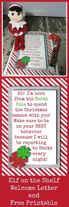 Elf on the Shelf FIRST day WELCOME LETTER with FREE Printable!