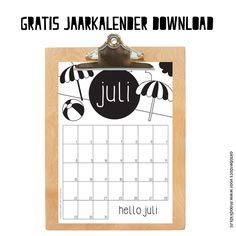 Heb je onze gratis, tijdloze, zwart-wit maandkalenders van OktoberDots al gezien? Liever in kleur? Dan kun je deze maandkalender kleuren. Kalender Design, Flask, Free Printables, Crafts For Kids, Diys, Bullet Journal, How To Plan, Handmade Gifts, Prints