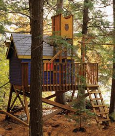 Basic tree house plan with optional tower.