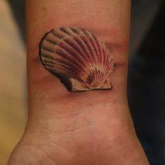 3D seashell tattoos   ... seashells while at the beach ? By Tattoo Artist : Ivana Belakova