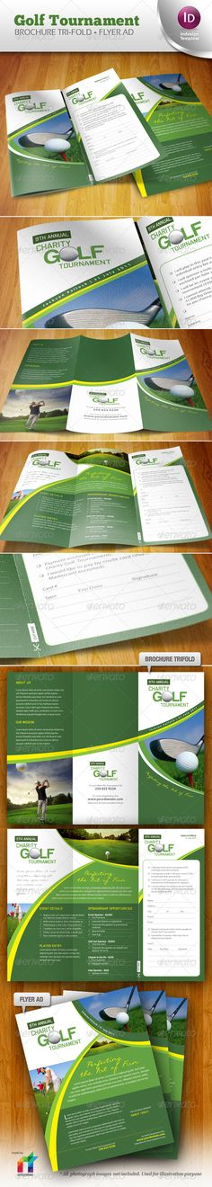 Golf Tournament Brochure Trifold