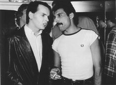 Gary Numan and Freddie Mercury- wouldn't have put them in a conversation together in a million years!