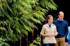The Duke & Duchess of Cambridge waited out the rain that had hit on their third day of the royal tour in Bella Bella, Canada, and were able to take a nature walk through the Great Bear Rainforest.