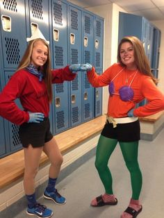 Mermaid Man and Barnacle Boy Halloween Costume.