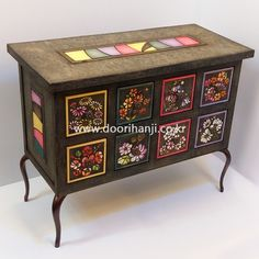 Art Furniture, Folk Art, Buffet, Decorative Boxes, Traditional, Cabinet, Storage, Home Decor, Clothes Stand