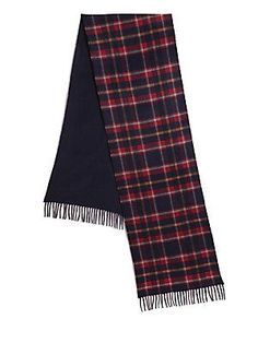 Saks Fifth Avenue Collection Merino Wool & Cashmere Scarf - Navy -
