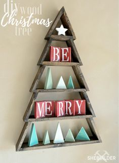DIY Wood Christmas Tree - DIY Projects