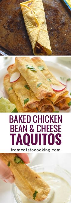 If you're looking for an easy, freezer-friendly meal, look no further than these Baked Chicken, Bean & Cheese Taquitos. They're a perfect Mexican-inspired lunch or dinner!