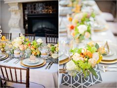 Soft and Romantic Engagement Party /peach and yellow wedding ideas