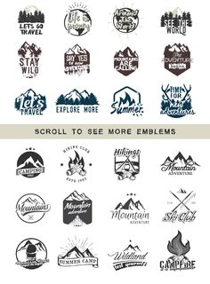 24 ADVENTURE LOGOS PACK by Roman Paslavskiy on @creativemarket