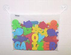 Amazon.com: Toyganizer Bath Toy Organizer + 2 Bonus Strong Hooked Suction Cups, White: Baby