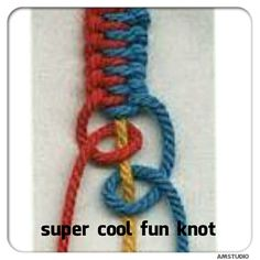 Easy super cool knot